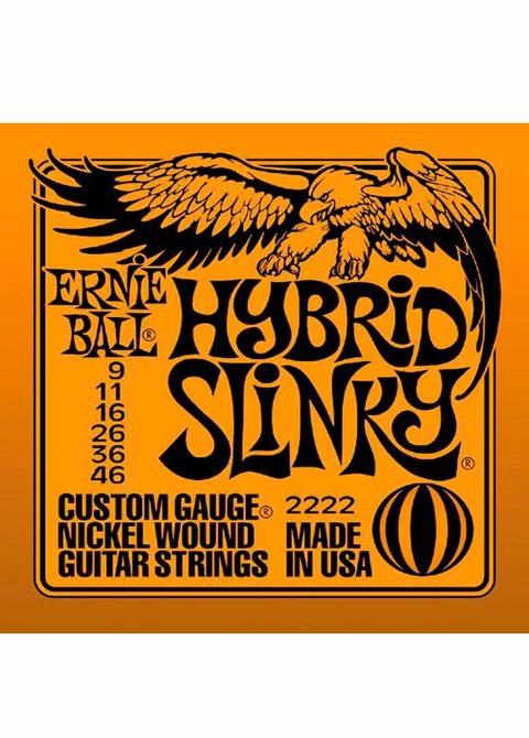 Encordado Guitarra Eléctrica Ernie Ball Hybrid Slinky