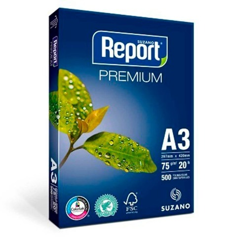 Resma Report A3 75grs