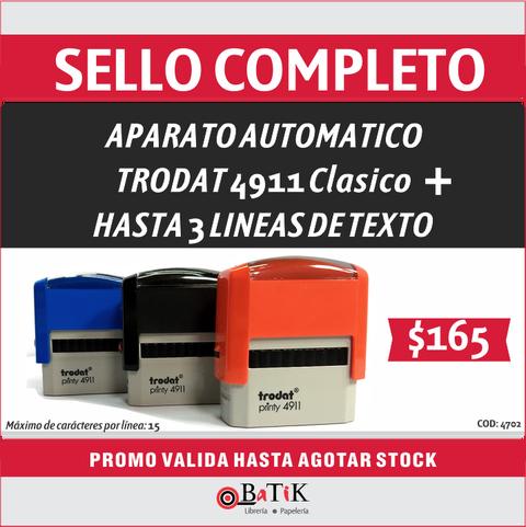 Promo sello completo Trodat 4911 + 3 líneas de texto