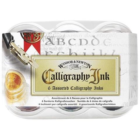 Tintas Caligraficas Winsor & Newton set x6