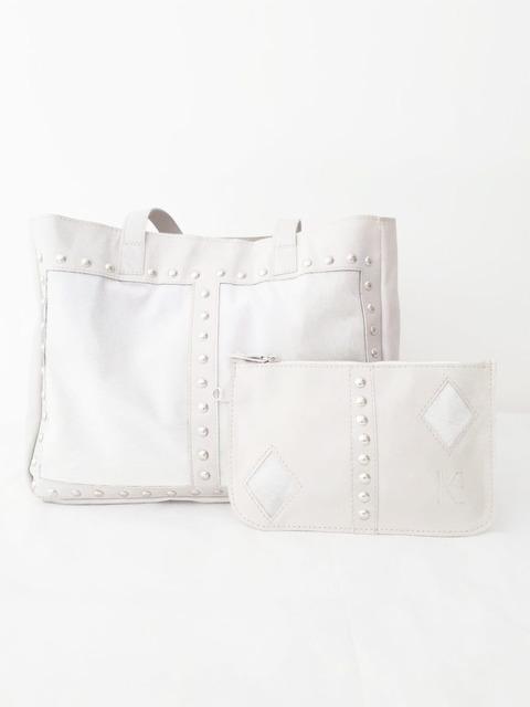 Tote Bag Claire Hielo (cuero y pelo)