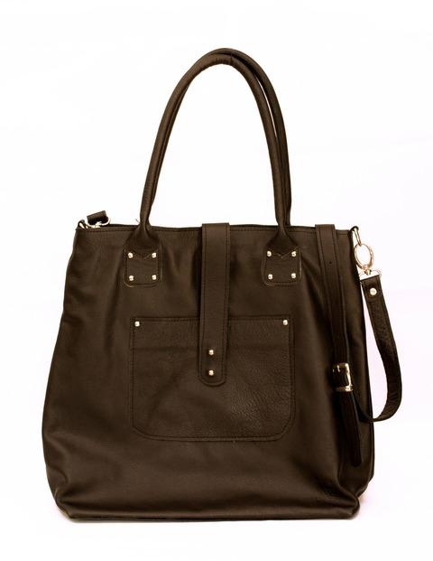 Tote Bag Ariane cuero Negro