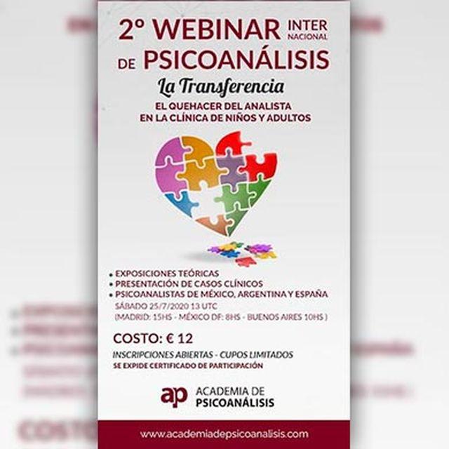 2° Webinar Internacional de Psicoanálisis: La Transferencia