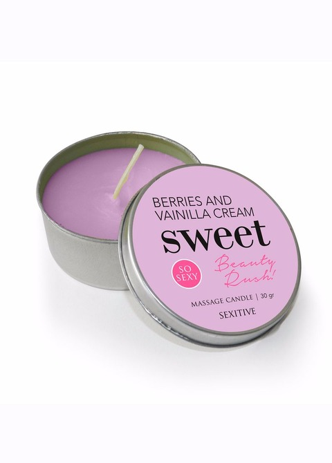 Massage Candle Sweet Beauty Rush Berries and Vainilla Cream