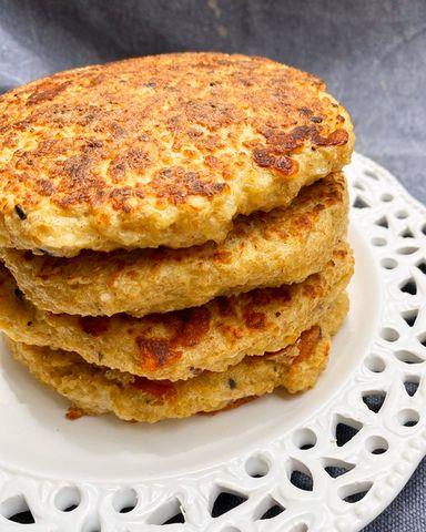 Pancakes de Quinoa y Queso