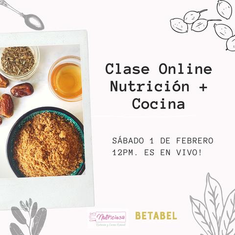 Clase Online junto a Nutriciosa