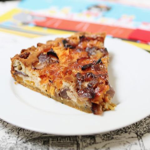 Tarta de calabaza, cebolla caramelizada y cheddar #12meses