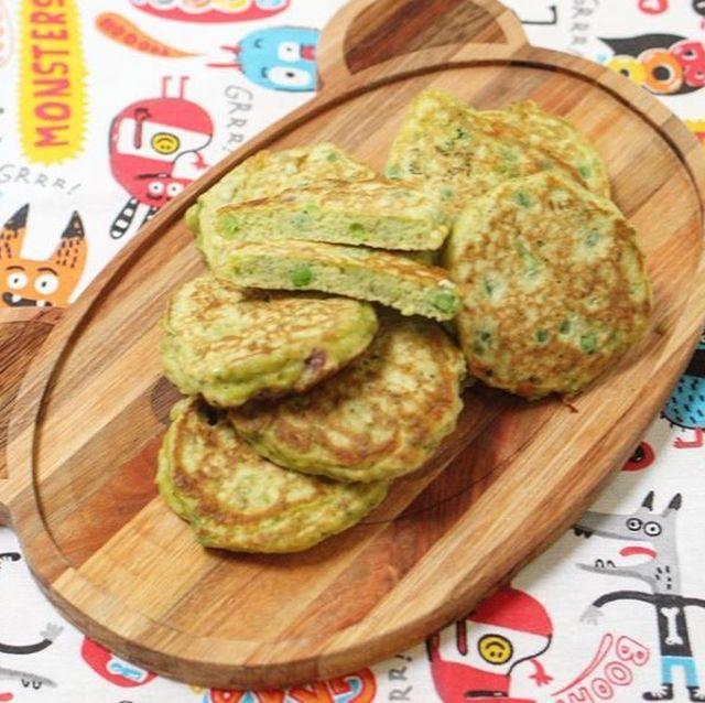 Pancakes super nutritivos de arvejas #12meses