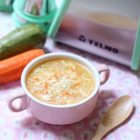 Sopa de huevo con multiverduras #10meses