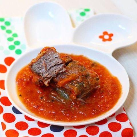 Asado al horno con salsa de tomate #12meses