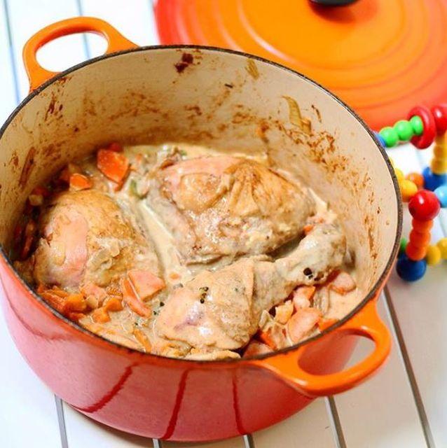 Pollo a la mostaza de Dijon #10meses