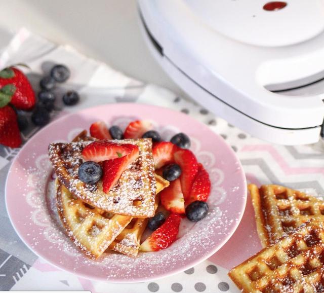 Waffle crocante al estilo belga