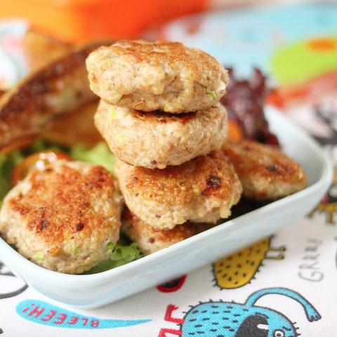 Hamburguesas de pollo y quinoa