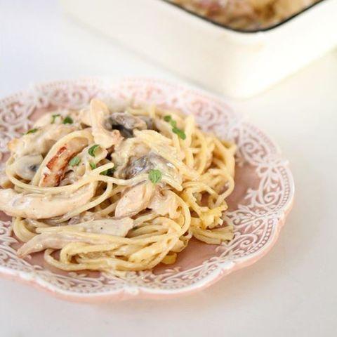 Spaghetti a la salsa Parisienne