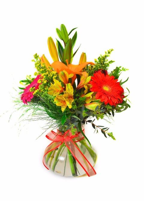Impulso de alegría: florero variado