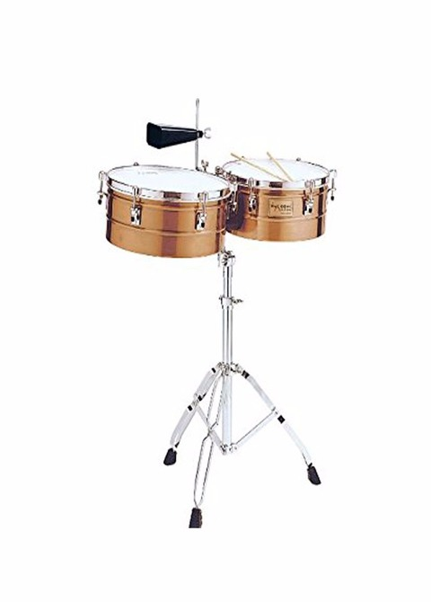 Brushed Chrome Shell Timbales Tycoon TTI-1415 BRS