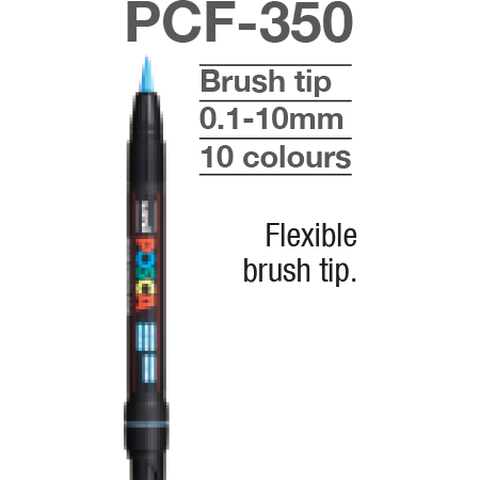 Marcador Posca PCF-350 Brush Tip