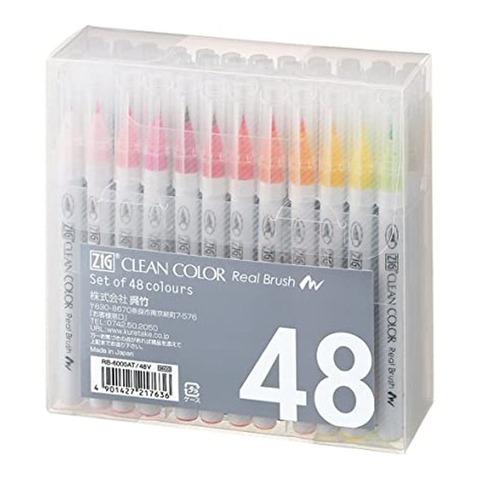 Marcador Zig Clean Color Pincel x48
