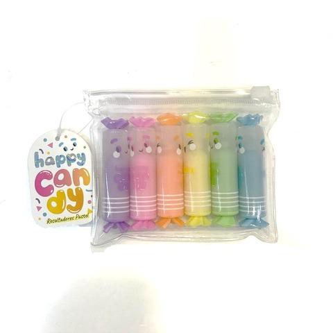 Resaltador Kikka Mini Candy Pastel Blister x6