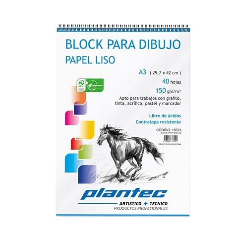 Block Plantec A3 Liso 150gr 40h Espiral