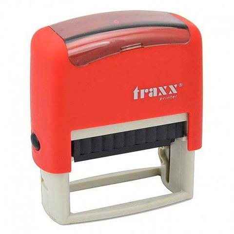 Promo sello completo Traxx (9011) + 3 líneas de texto Rojo