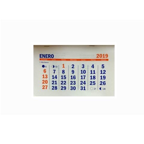 Calendario 2019 7,5x10cm x100 unidades