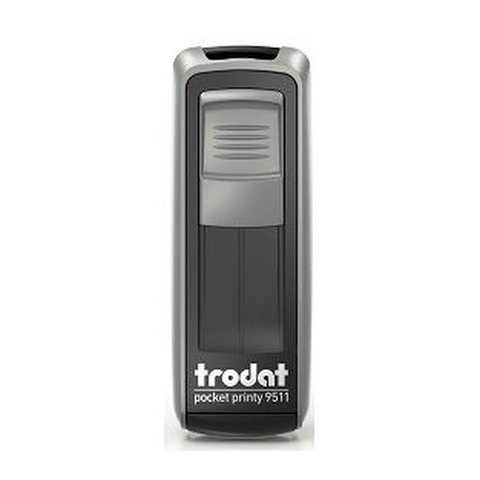 Sello 3 Líneas + Aparato Trodat Pocket 9511 Plata y Negro