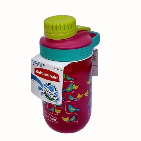 Botella Reutilizable Rubbermaid 414ml Leak Magenta