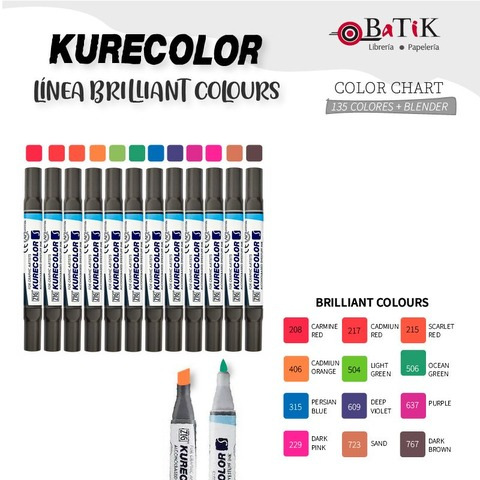Marcador Kurecolor - Línea: Brilliant Colours (colores brillantes)