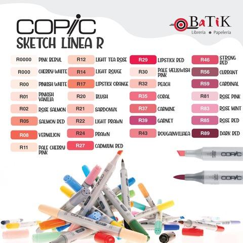 Copic Marcador Sketch  Línea R