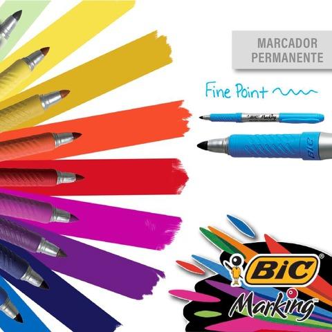 Marcador Bic Marking permanente Punta Fina x Unidad