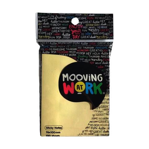 Notas Adh. 76x100mm.100hojas Mooving Pastel