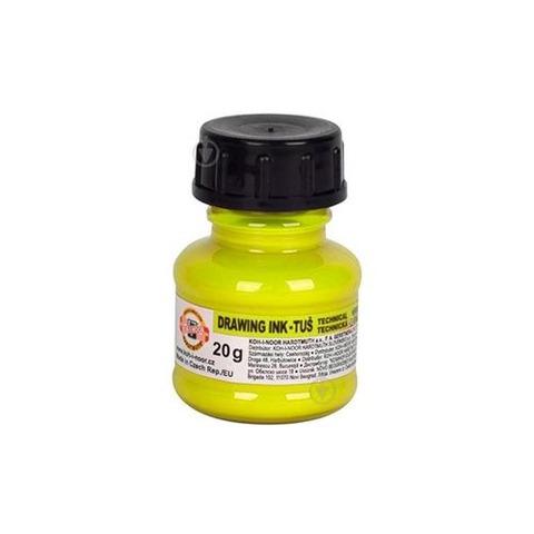 Tinta China Koh-i-noor 20gr Fluo color Amarillo