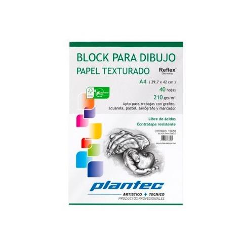 Block Plantec A4 Texturado 210gr 40h Emblocado