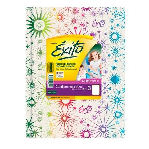 Cuaderno Escolar Nº3 Exito 19x24 x48 Liso