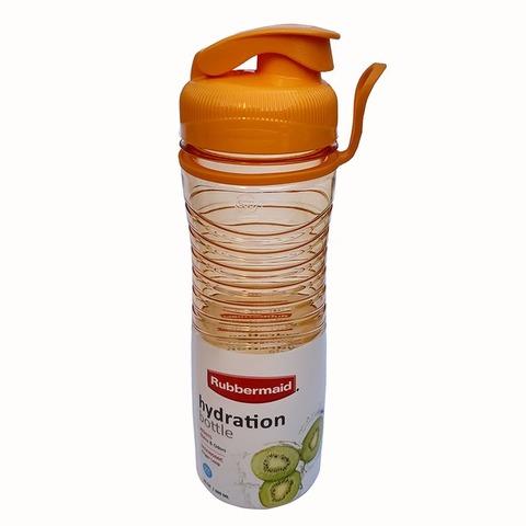 Botella Reutilizable Rubbermaid 600ml Hydra Naranja