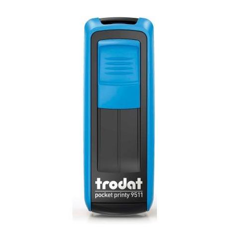 Sello 3 Líneas + Aparato Trodat Pocket 9511 Azul y Negro
