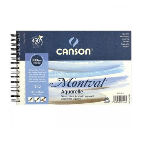 Block Canson Montval 300grs - 13,5 x 21 cm (Álbum)