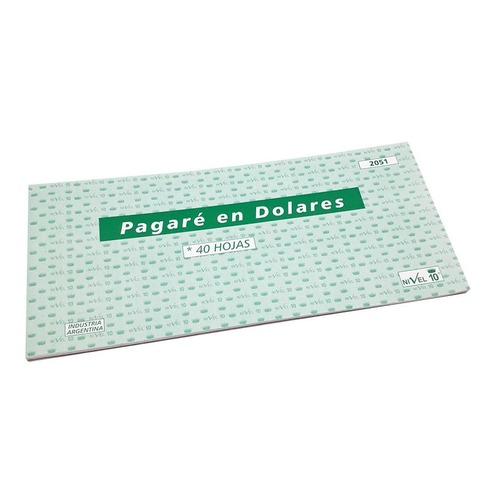 Talonario Pagaré en Dolares Niv.10 (2051)