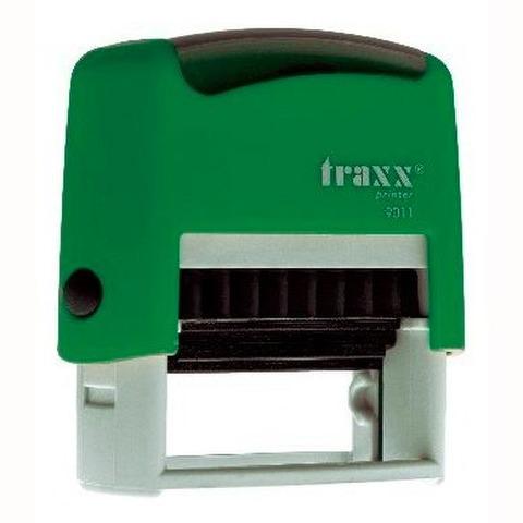 Promo sello completo Traxx (9011) + 3 líneas de texto Verde