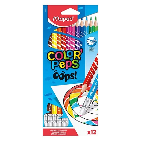 Lápiz Maped Color Peps Borrables x12