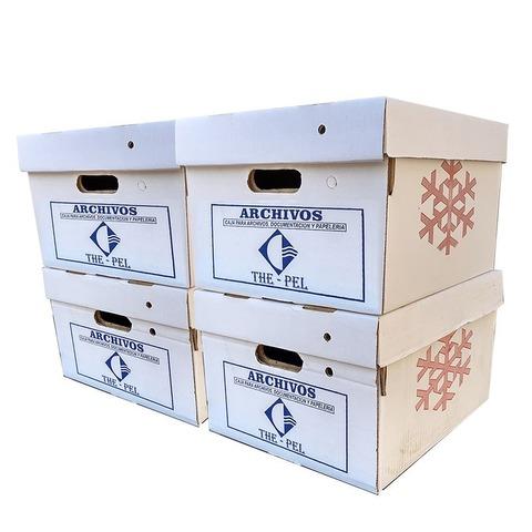 Caja Americana cartón blanca 42x32x25cm LLevá 4 Pagá 3