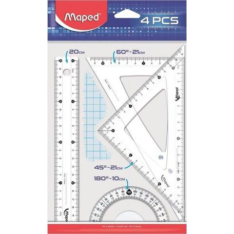 Set de Geometría Maped 20cm 4 piezas