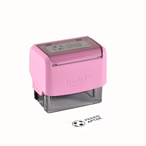 Promo sello Infantil Rosa Pastel.  Dibujo + texto