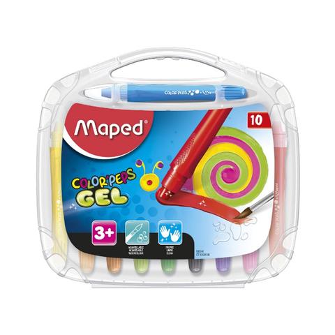 Cera Maped Colorpeps Gel x10 caja plástica