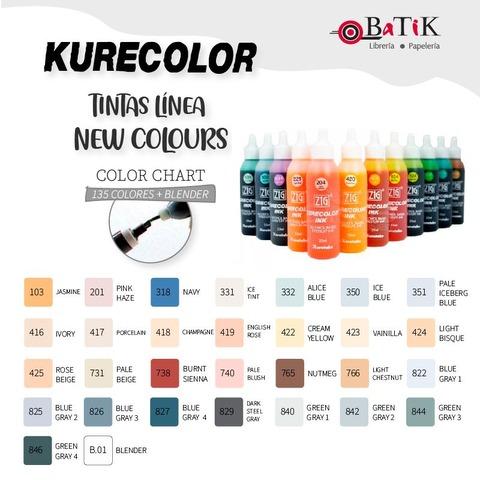 Kurecolor Tinta Línea: New Colours (colores nuevos y blender)