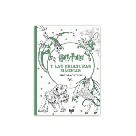 Libro para colorear Harry Potter y las criaturas mágicas