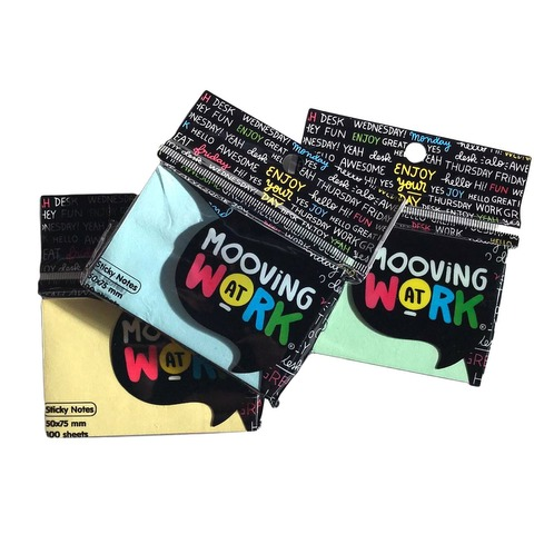 Notas Adh. 50x75mm.100hojas Mooving at Work Pastel