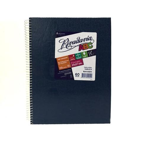 Cuaderno escolar Espiralado Rivadavia ABC x60 Forrado color