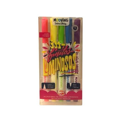 Mooving Coloring Microfibras x5 Luminosas